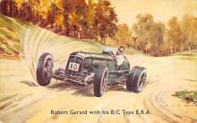 spof020908 - Robert Gerard with his B/C Type ERA Automobile Racing, Race Car Postcard