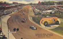 spof020910 - Annual 500 Mile Classic, Indianapolis Motor Speedway Automobile Racing, Race Car Postcard