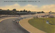 spof020923 - Pacing Lap, Start of Race, Motor Speedway Automobile Racing, Race Car Postcard