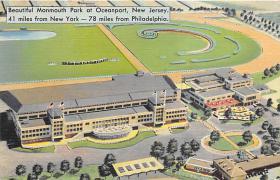 spof021020 - Oceanport, NJ Racing postcard