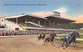 spof021032 - Hagerstown, Maryland Horse Racing Postcard