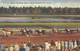 spof021039 - Hialeah Park, Miami FL USA Horse Racing Postcard