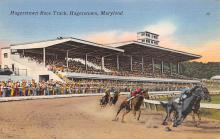 spof021043 - Hagerstown, Maryland USA Horse Racing Postcard