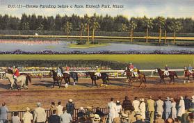 spof021045 - Hialeah Park, Miami FL USA Horse Racing Postcard