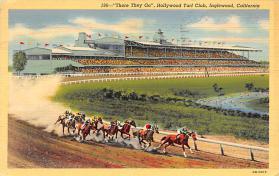 spof021048 - Inglewood, Cal, USA Horse Racing Postcard