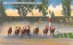 spof021049 - Hialeah Park, Miami FL USA Horse Racing Postcard