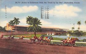spof021050 - Hallandale, Florida USA Horse Racing Postcard