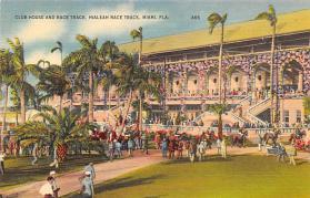 spof021053 - Hialeah Park, Miami FL USA Horse Racing Postcard