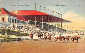 spof021055 - Hialeah Park, Miami FL USA Horse Racing Postcard