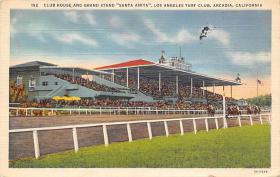 spof021059 - Arcadia, Cal, USA Horse Racing Postcard