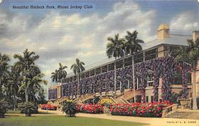 spof021060 - Hialeah Park, Miami FL USA Horse Racing Postcard