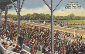spof021062 - Baltimore Md, USA Horse Racing Postcard