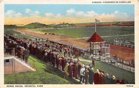 spof021063 - Habana, Cuba Horse Racing Postcard