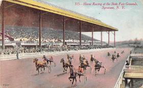 spof021065 - Syracuse, NY USA Horse Racing Postcard
