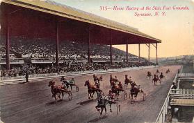 spof021070 - Syracuse, NY USA Horse Racing Postcard