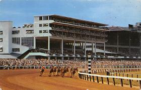 spof021076 - Oceanport, NJ USA Horse Racing Postcard