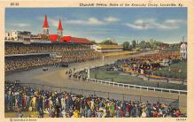 spof021093 - Churchill Downs, Louisville, KY, USA Horse Racing Trotter, Postcard