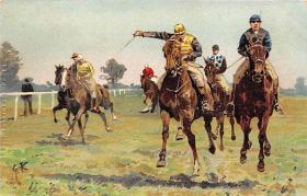 spof021303 - Horse Racing, Trotters,  Postcard
