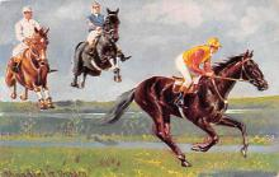 spof021304 - Artist Donadini Dresden Horse Racing, Trotters,  Postcard