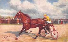 spof021308 - Misc Artist Signed Trotters Horse Racing Postcard