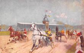 spof021310 - Misc Artist Signed Horse Racing Postcard