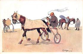 spof021401 - Horse Racing, Trotters,  Postcard