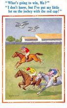 spof021402 - Horse Racing, Trotters, Postcard