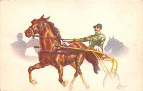 spof021417 - Horse Racing, Trotters, Postcard
