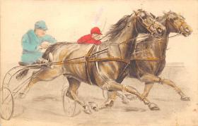spof021421 - Horse Racing, Trotters, Postcard