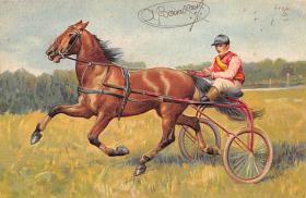 spof021428 - Horse Racing, Trotters, Postcard