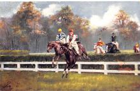 spof021429 - Steeplechasing, Horse Racing, Trotters, Postcard