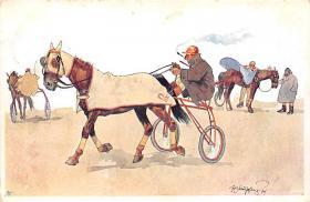 spof021434 - Horse Racing, Trotters, Postcard