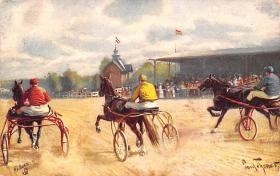 spof021436 - Horse Racing, Trotters, Postcard