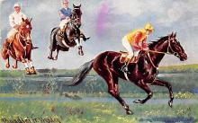 spof021437 - Horse Racing, Trotters, Postcard