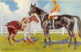 spof021438 - Horse Racing, Trotters, Postcard