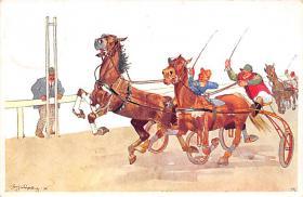 spof021442 - Horse Racing, Trotters, Postcard