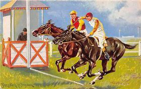 spof021446 - Horse Racing, Trotters, Postcard