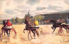 spof021449 - Horse Racing, Trotters, Postcard