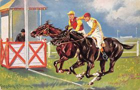 spof021452 - Horse Racing, Trotters, Postcard