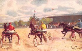 spof021454 - Horse Racing, Trotters, Postcard