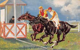 spof021456 - Horse Racing, Trotters, Postcard