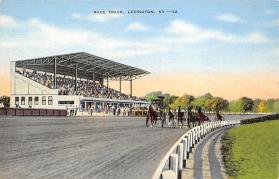 spof021484 - Race Track, Lexington, Kentucky, USA, Horse Racing Postcard