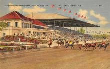 spof021487 - Club House & Grand Station Horse Racing, Trotter, Trotters, Postcard