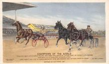 spof021489 - Champions of the World Horse Racing, Trotter, Trotters, Postcard