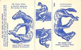 spof021491 - Circle Bar & Lounge Horse Racing, Trotter, Trotters, Postcard