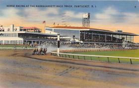 spof021498 - Horse Racing at Narragansett Race Track Horse Racing, Trotter, Trotters, Postcard