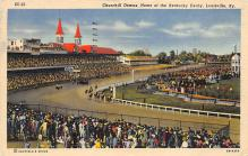 spof021504 - Kentucky Derby Horse Racing, Trotter, Trotters, Postcard