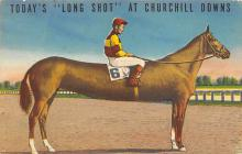 spof021510 - Long Shot at Churchill Downs Horse Racing, Trotter, Trotters, Postcard