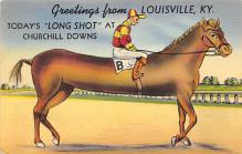 spof021543 - Churchill Downs,  Louisville, KY USA Horse Racing Old Vintage Antique Postcard
