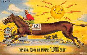 spof021545 - Horse Racing Old Vintage Antique Postcard
